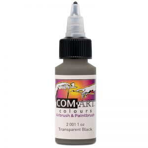 Com-Art Transparent Black 1oz (28 ml)
