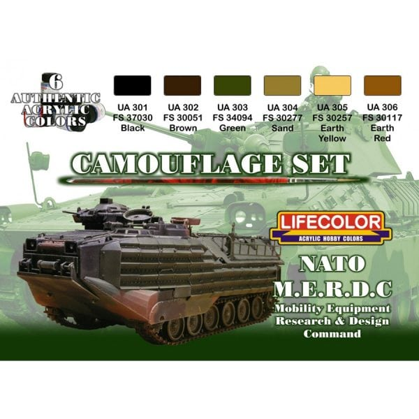 LifeColor NATO MERDC Set (22ml x 6)