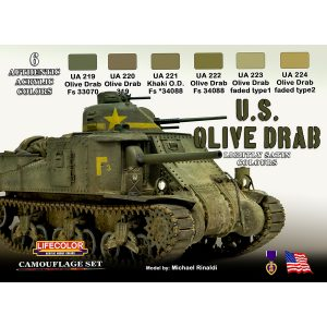 LifeColor U.S. Olive drab Set