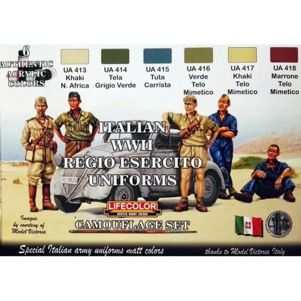 LifeColor Italian WWII Regio Esercito Uniforms Set