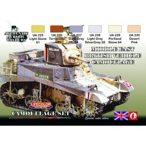LifeColor Middle East British Tank Set