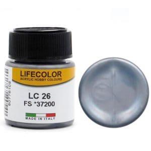 LifeColor Matt Gun Metal (22ml) FS 37200