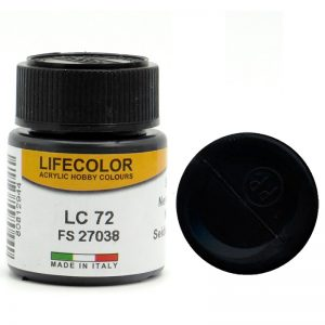 LifeColor Gloss Satin Black (22ml) FS 27038