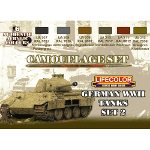 LifeColor German WWII Tanks Set 2