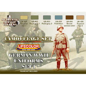 LifeColor German WWII Uniforms Set 1