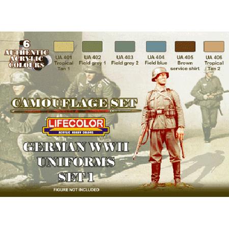 LifeColor German WWII Uniforms Set 1