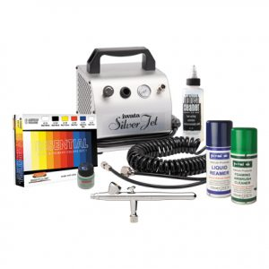 Iwata Modeller Airbrush Kit with Silver Jet Compressor
