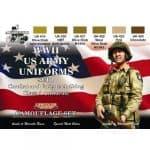 LifeColor USA WWII Army Uniforms Set 1