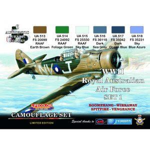 LifeColor WWII Royal Australian Air Force RAAF Set 1