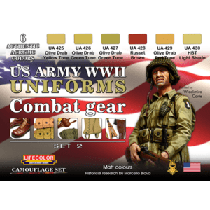 LifeColor USA WWII Army Uniforms Set 2
