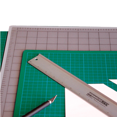 Artool Cutting Mat (30cm x 45cm) Grey/Black
