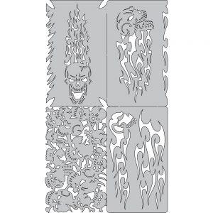 Craig Fraser Skullophenia Nano Set of 4