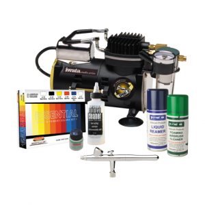 Iwata Scale Model Airbrush Kit with Sprint Jet Compressor