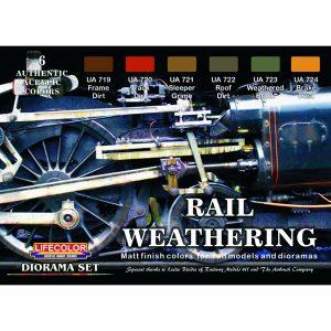LifeColor Rail Weathering Set 22ml x 6