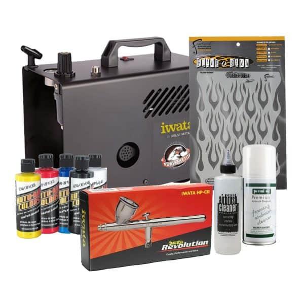Iwata Airbrush Kit >> Iwata Power Jet Lite Auto Graphics Airbrush Kit