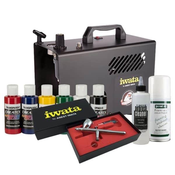 Iwata Textile Airbrush Kit with Power Jet Lite compressor