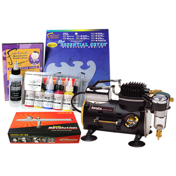 Iwata Sprint Jet Compressor Arts and Graphics Airbrush Kit