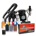 Iwata Professional Body Art Kit with Power Jet Plus Handle Tank Compressor