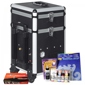Iwata Maxx Arts and Graphics Airbrush Kit with storage unit