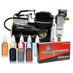 Iwata Professional B~ody Art Kit with Sprint Jet Compressor