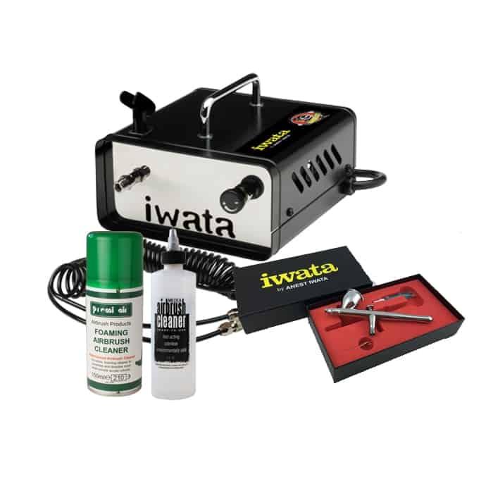 Iwata Airbrush Kit >> Iwata Ninja Jet Mobile Make Up Airbrush Kit Graphic Air
