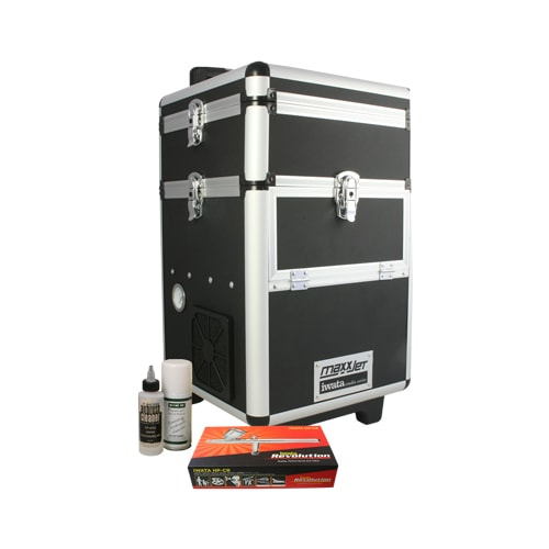 Iwata Professional Make-Up Kit with Maxx Jet Compressor and Storage Unit
