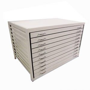 10 Drawers Metal Plan Chest