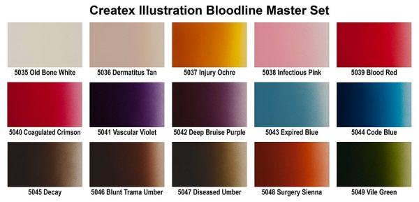 Createx Illustration Bloodline Colour Chart
