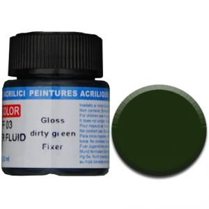 LifeColor Fixer Fluid: Gloss Dirty Green (22ml)