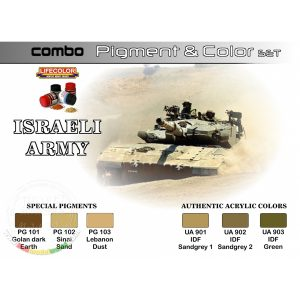 LifeColor Israeli Army Pigment and Colour Combo