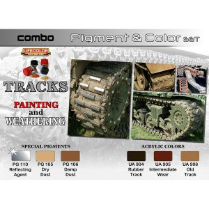 LifeColor Tracks Painting & Weathering Pigment & Colour Combo
