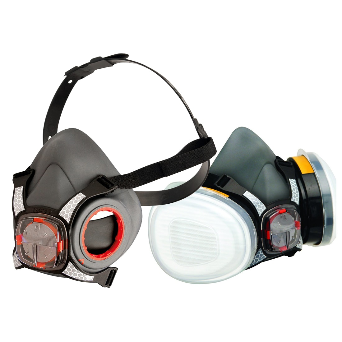 Half 8 Valve Filters Force A1p2 Mask Respirator And Typhoon Of Twin Pair With