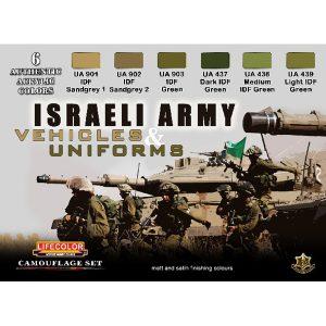 LifeColor Israeli Army Vehicles & Uniforms Set