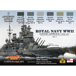 LifeColor Royal Navy WWII Eastern Approach – Early War Set 1 (22ml x 6)
