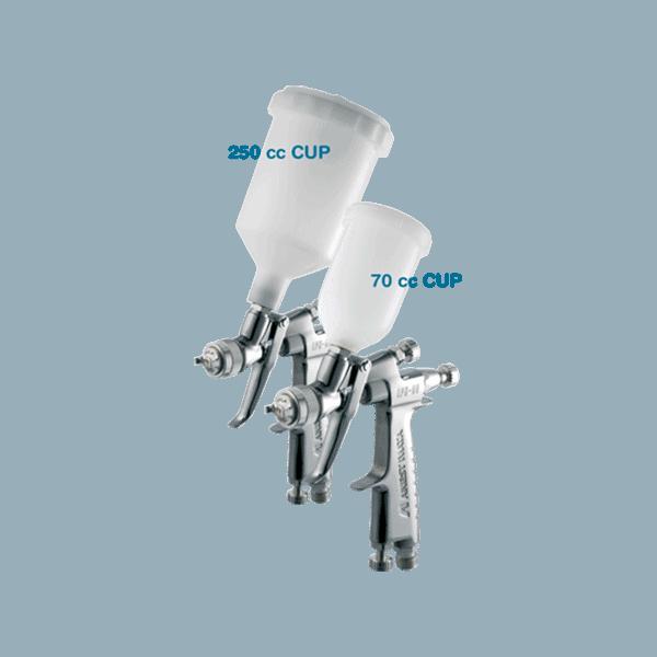 Iwata LPH-80 LVLP Spray Gun with 0.4mm Nozzle 250 & 70cc Cups