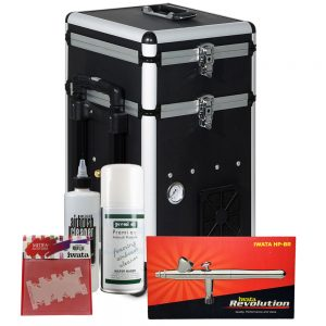Iwata Professional Nail Art Kit with Maxx Jet Compressor and Storage Unit