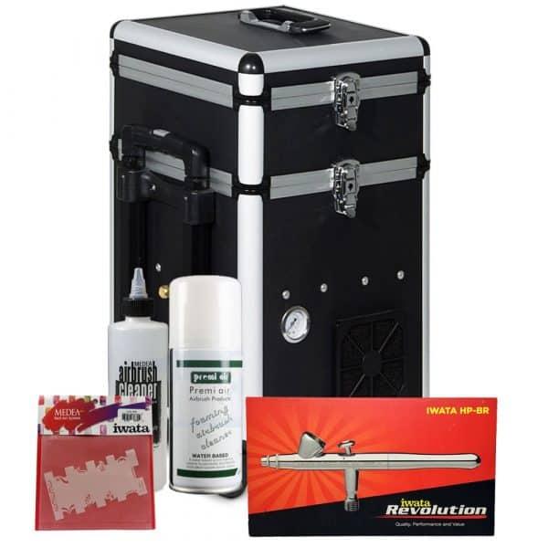 Iwata Professional Nail Art Kit with Maxx Jet Compressor and Storage Unit