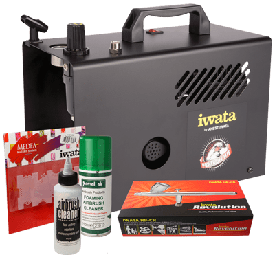Iwata Professional Nail Art Kit with Power Jet Lite Compressor
