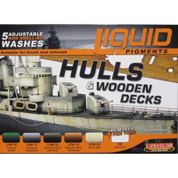 LifeColor Liquid Pigments Hulls & Wooden Decks set