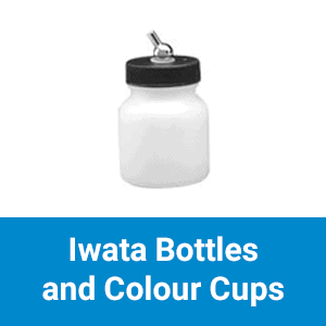 Iwata Bottles and Colour Cups