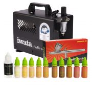 Airbase Airbrush Make-up Kit with Iwata airbrush and Smart Jet Pro compressor