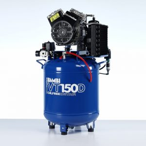 Bambi VT150D Oil Free Ultra Low Noise Compressor with Dryer
