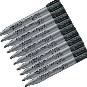 Lumocolor Flipchart Marker Black Box of 10