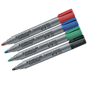 Lumocolor Flipchart Markers Box of 4