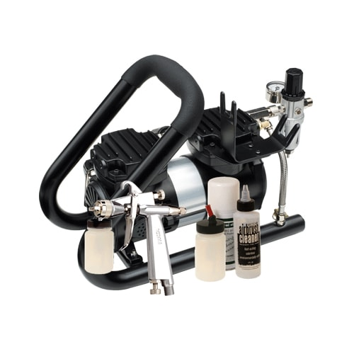 Iwata Professional G6 Spray Gun Tanning Kit with Power Jet Plus Handle Tank Compressor