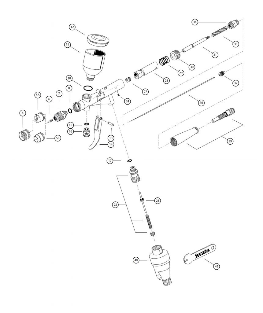 Iwata Kustom TH Spare Parts Diagram