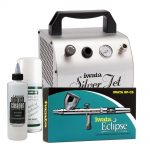 Silver Jet with Eclipse Professional Mobile MakeUp Airbrush Kit