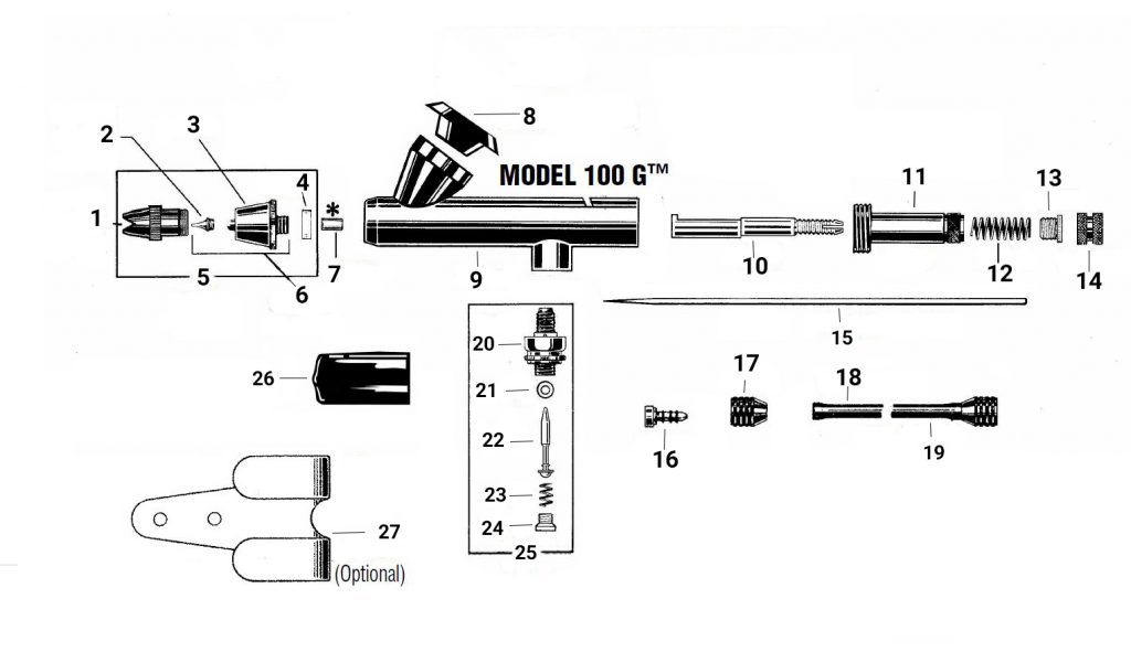 Spare Parts Guide for 100-G Fine Head