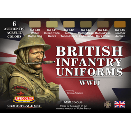 LifeColor British Uniforms WWII set