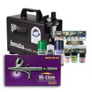 Iwata Modeller airbrush kit with Smart Jet Pro compressor